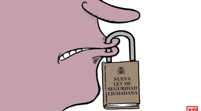 Concentración contra la Ley Mordaza en Almería