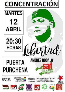 Concentración, 12 de Abril, Puerta Purchena, Almería